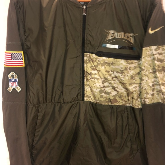 official photos bae39 ee192 Nike Philadelphia Eagles Salute Service Zip Jacket